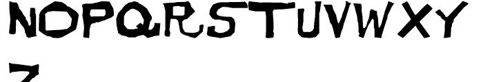 Dirt Devil Regular Font UPPERCASE