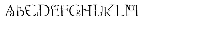 DisSonus X Regular Font LOWERCASE