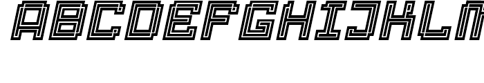 Displacement Density Italic Font UPPERCASE