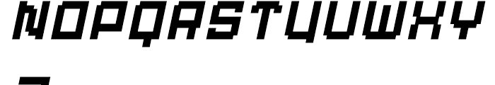 Displacement Weight Italic Font UPPERCASE