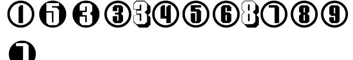 Display Digits Nine Font UPPERCASE