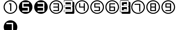 Display Digits One Font UPPERCASE