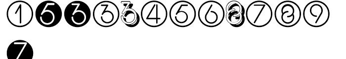 Display Digits Three Font UPPERCASE