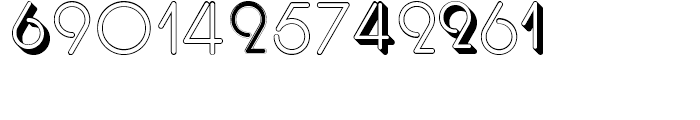 Display Digits Three Font LOWERCASE