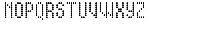 Display Dots Four Sans Font UPPERCASE