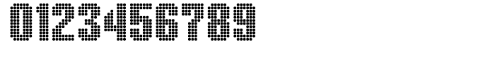 Display Dots Three Sans Font OTHER CHARS