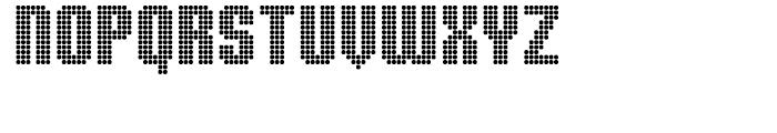 Display Dots Three Sans Font LOWERCASE