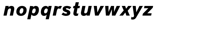 District Pro Bold Italic Font LOWERCASE