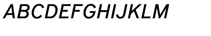 District Pro Medium Italic Font UPPERCASE