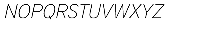 District Thin Italic Font UPPERCASE