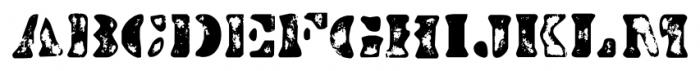 Dirty Baker's Dozen Scorch Font UPPERCASE