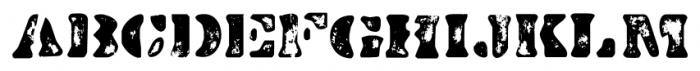 Dirty Baker's Dozen Scorch Font LOWERCASE