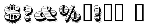 Dirty Money SRF Regular Font OTHER CHARS