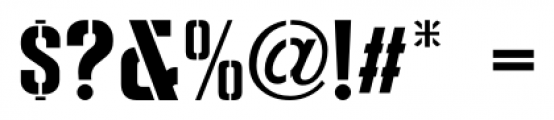 Dive Gear Stencil JNL Regular Font OTHER CHARS