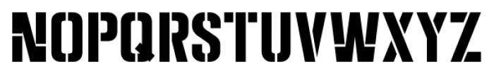 Dive Gear Stencil JNL Regular Font UPPERCASE