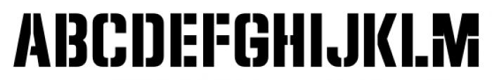Dive Gear Stencil JNL Regular Font LOWERCASE