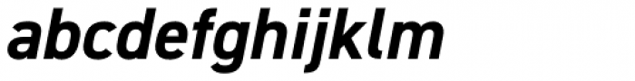 DIN 2014 Bold Italic Font LOWERCASE