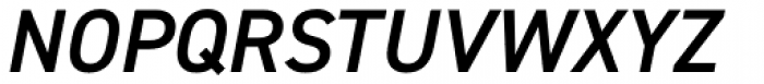 DIN 2014 Demi Italic Font UPPERCASE