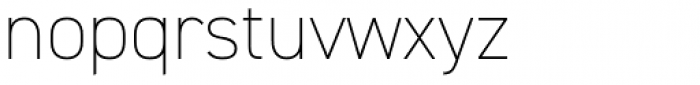 DIN 2014 ExtraLight Font LOWERCASE