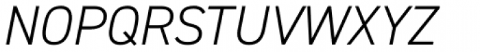 DIN 2014 Light Italic Font UPPERCASE