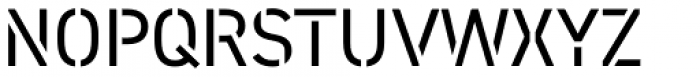 DIN 2014 Stencil Half-Open Font UPPERCASE