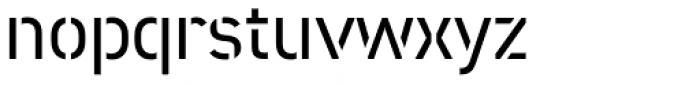 DIN 2014 Stencil Half-Open Font LOWERCASE