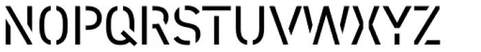 DIN 2014 Stencil Open Font UPPERCASE
