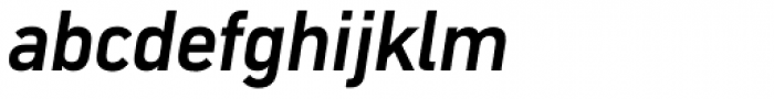 DIN Mittel CY Medium Italic Font LOWERCASE