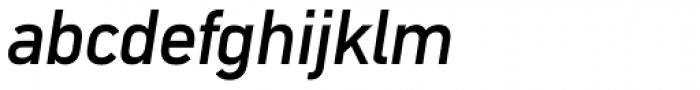 DIN Mittel Italic Font LOWERCASE