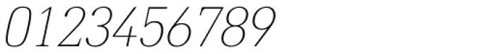 DIN Neue Roman Thin Italic Font OTHER CHARS