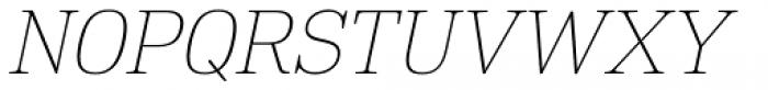 DIN Neue Roman Thin Italic Font UPPERCASE