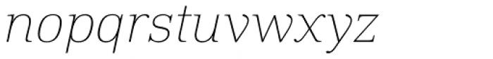 DIN Neue Roman Thin Italic Font LOWERCASE