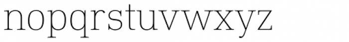 DIN Neue Roman Thin Font LOWERCASE