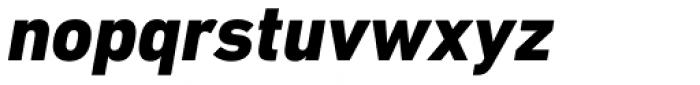 DIN Next Cyrillic Heavy Italic Font LOWERCASE
