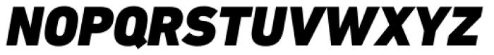 DIN Next Paneuropean W1G Black Italic Font UPPERCASE
