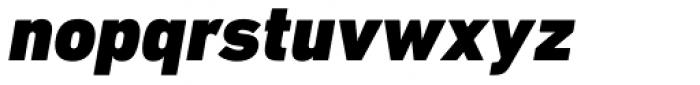 DIN Next Paneuropean W1G Black Italic Font LOWERCASE