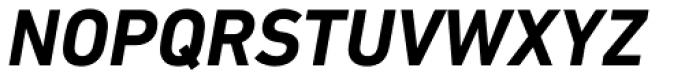 DIN Next Paneuropean W1G Bold Italic Font UPPERCASE