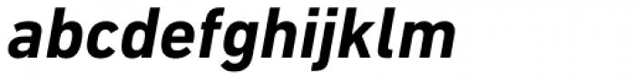 DIN Next Paneuropean W1G Bold Italic Font LOWERCASE
