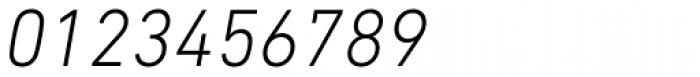DIN Next Paneuropean W1G Light Italic Font OTHER CHARS
