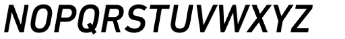 DIN Next Paneuropean W1G Medium Italic Font UPPERCASE