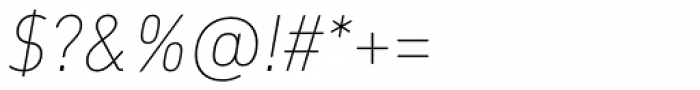 DIN Next Paneuropean W1G UltraLight Italic Font OTHER CHARS
