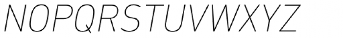 DIN Next Paneuropean W1G UltraLight Italic Font UPPERCASE