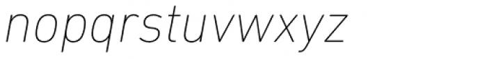 DIN Next Paneuropean W1G UltraLight Italic Font LOWERCASE