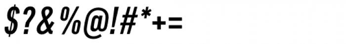 DIN Next Pro Condensed Medium Italic Font OTHER CHARS