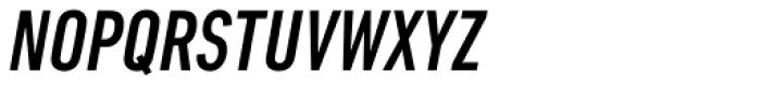 DIN Next Pro Condensed Medium Italic Font UPPERCASE