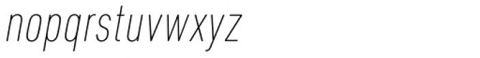 DIN Next Pro Condensed UltraLight Italic Font LOWERCASE