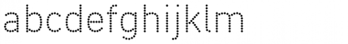 DIN Next Shapes Dots Font LOWERCASE