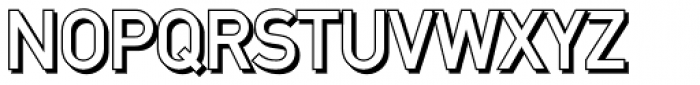 DINfun Pro Plain Shadow Font UPPERCASE