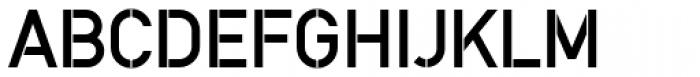DINfun Pro Stencil Font UPPERCASE