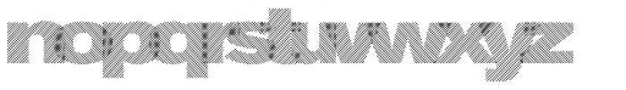 Diago Cross Font LOWERCASE